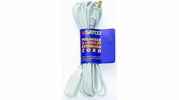 Satco 93-196  12' White 3 Outlet Polarized Extension Cord - 16/2 SPT