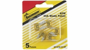 Bussmann BP/ATM-20-RP  Yellow ATM 20 Amp Fast-Acting Automotive Mini Blade Fuses - 5 per Card
