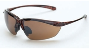 Crossfire 9117  Sniper Safety Glasses HD Brown Flash Mirror Lens - Crystal Brown Frame