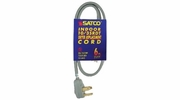 Satco 93-5028  6' Heavy Duty Replacement 3-Wire Dryer Cord (10-3 SRDT) Gray Flat
