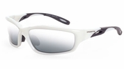 Crossfire 2243  Infinity Safety Glasses Silver Mirror Lens - Pearl White Frame