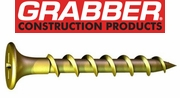 Grabber General Purpose Interior Wood Screws Coarse Thread with Yellow Zinc