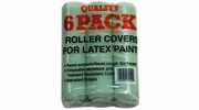 """Linzer RC139-9  Utlity 9"""" Roller Covers for Latex Paints with 3/8"""" Nap - 6 per Package"""