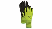 Wonder Grip WG310HV  Extra-Grip High Visibility Latex Palm Gloves - Large