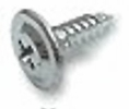 """Fastap FTP050RWH  #8 x 9/16"""" Round Washer Head Self Drilling Sheet Metal Screws - Phillips Drive Head 50 per Package"""