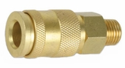 "Legacy A77425  Brass Universal 1/4"" Body x 1/4"" Male NPT Quick-Disconnect Coupler"