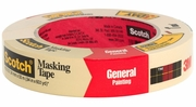 """3M 2050-24A  1"""" x 60-yd Scotch Masking Tape for General Painting"""