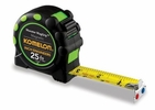 """Komelon 7125IE  25' x 1"""" Monster MagGrip Inch/Engineer Scale Tape Measure -Green"""