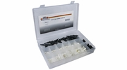 """Pico 0003-V  72 Piece Assorted Vacuum Line """"T's"""" Couplers and Connectors Kit 1/8"""" to 5/16"""" Hose OD"""