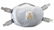 3M 8233  Particulate Respirator - Dust Mask N100 with Cool Flow Valve Lead Rated