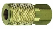 """Tru-Flate 13-611  3/8"""" Air Hose Quick Disconnect Coupler with 1/4"""" NPT Female Thread"""