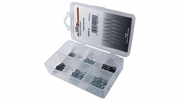 "Pico 0001-H  90 Piece Assorted Hair Pin Retainer Kit 1/16"" to 3/8"" Groove"