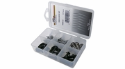 Pico 0001-S  36 Piece Assorted Trim Screw Kit Black and Chrome with Counter Sunk Washers