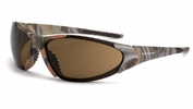 Crossfire 18146  Core Safety Glassese HD Brown Lens - Woodland Camo Frame