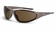 Crossfire 181813  Core Polarized Safety Glasses HD Brown Lens - Mocha Brown Frame
