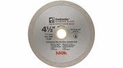 """MK Diamond 167028  4-1/2"""" x 5/8"""" Contractor Quality Wet Cutting Continuous Rim Diamond Blade for Tile / Marble"""