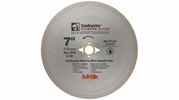 """MK Diamond 167029  7"""" x 5/8"""" Contractor Quality Wet Cutting Continuous Rim Diamond Blade for Tile / Marble"""