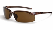 Crossfire 291113  ES5 Polarized Safety Glasses HD Brown Lens - Crystal Brown Frame