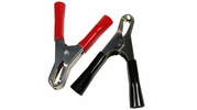 """Pico 0840A  3-1/4"""" Insulated 30 Amp Steel Electrical Test Clips Red and Black 25 Sets Per Package"""