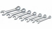 """Performance Tool W30507  7 Piece SAE Stubby Combination Wrench Set (3/8"""" to 3/4"""")"""