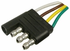 """Pico 0713PT  4-Way Male Trailer Electrical Connector 6"""" Lead"""