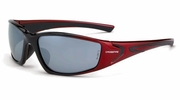 Crossfire 23233  RPG Safety Glasses Silver Mirror Lens -Shiny Black/Pearl Red Frame