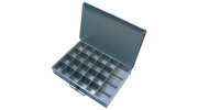 "Pico 0013A  13-1/2"" x 9-1/2"" x 2"" Empty 21 Compartment Metal Kit Drawer Includes Tool Slot"