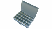 "Pico 0014A  13-1/2"" x 9-1/2"" x 2"" Empty 24 Compartment Metal Kit Drawer"