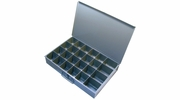 "Pico 0015A  18"" x 12"" x 3"" Empty 24 Compartment Metal Kit Drawer"