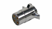 Pico 0723A  Chrome 4-Pole 20 Amp Male Plug Trailer Electrical Connector 20 per Package
