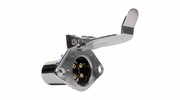 Pico 0724A  Chrome 4-Pole 20 Amp Female Socket Trailer Electrical Connector 20 per Package
