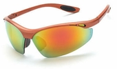 Crossfire 119  Talon Safety Glasses Red Mirror Lens -  Copper Frame