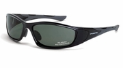 Crossfire 24426  MP7 Polarized Safety Glasses Blue-Green Lens -  Crystal Black Frame