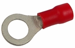 Pico 1703PT  22-16 AWG(Red)  Flared Vinyl Insulated Electrical Wiring #6 Ring Terminals 100 Per Package