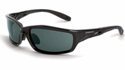 Crossfire 241  Infinity Safety Glasses Smoke Lens - Black Crystal Frame