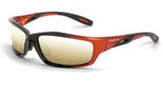 Crossfire 2812  Infinity Safety Glasses Gold Mirror Lens - Orange/Black Frame