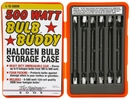 "Designers Edge L-15  Bulb Buddy Storage Case with Six 500 Watt Halogen 4-5/8"" Replacement Bulbs"