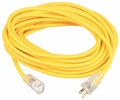 Coleman Cable 01487  25' Polar/Solar Jacketed 14/3 SJEOW Outdoor Extension Cord with Lighted End