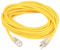 Coleman Cable 01689  100' Polar/Solar Jacketed 12/3 SJEOW Outdoor Extension Cord with Lighted End