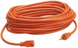 Coleman Cable 02308  50' Vinyl Jacketed 16/3 SJTW Outdoor Extension Cord - Orange