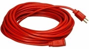 Coleman Cable 02407  25' Vinyl Jacketed 14/3 SJTW Outdoor Extension Cord - Red