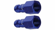 "Legacy A72430C-2PK  ColorConnex Blue Type C Automotive 1/4"" Body x 1/4"" Female NPT Quick-Disconnect Plug - Carded (CP2) - 2 per Package"