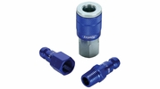 "Legacy A72452C  3 Piece ColorConnex Blue Type C Automotive 1/4"" Body x 1/4"" Quick Disconnect Coupler and Plug Kit (C1,CP1,CP2)"