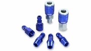 "Legacy A72457C  7 Piece ColorConnex Blue Type C Automotive 1/4"" Body x 1/4"" Quick Disconnect Coupler and Plug Kit (C1,C2,CP1,CP2)"