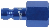 "Legacy A72630C-X  ColorConnex Blue Type C Automotive 1/4"" Body x 3/8"" Female NPT Quick-Disconnect Plug (CP2-23)"