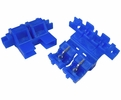 Pico 0972A  20 Amp Max Self-Stripping In-Line Fuse Holder for ATC/ATO Blade Type Fuses Blue 100 Per Package