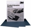 "3M 02007  220 Grit 9"" x 11"" Wet or Dry Tri-M-ite Sandpaper (413Q) A weight - 50 Sheets per Sleeve"