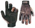 Custom Leathercraft M125L  Mossy Oak Form-Fitted High Dexterity Work Gloves- Large