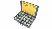 """Pico 0004-N  572 Piece Assorted Nylon Clamp Kit in Metal Kit Drawer 1/8"""" to 1"""" ID"""