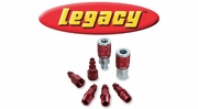 "Legacy ColorConnex Red Type D Industrial 1/4"" Body Quick-Disconnect Couplers and Plugs"